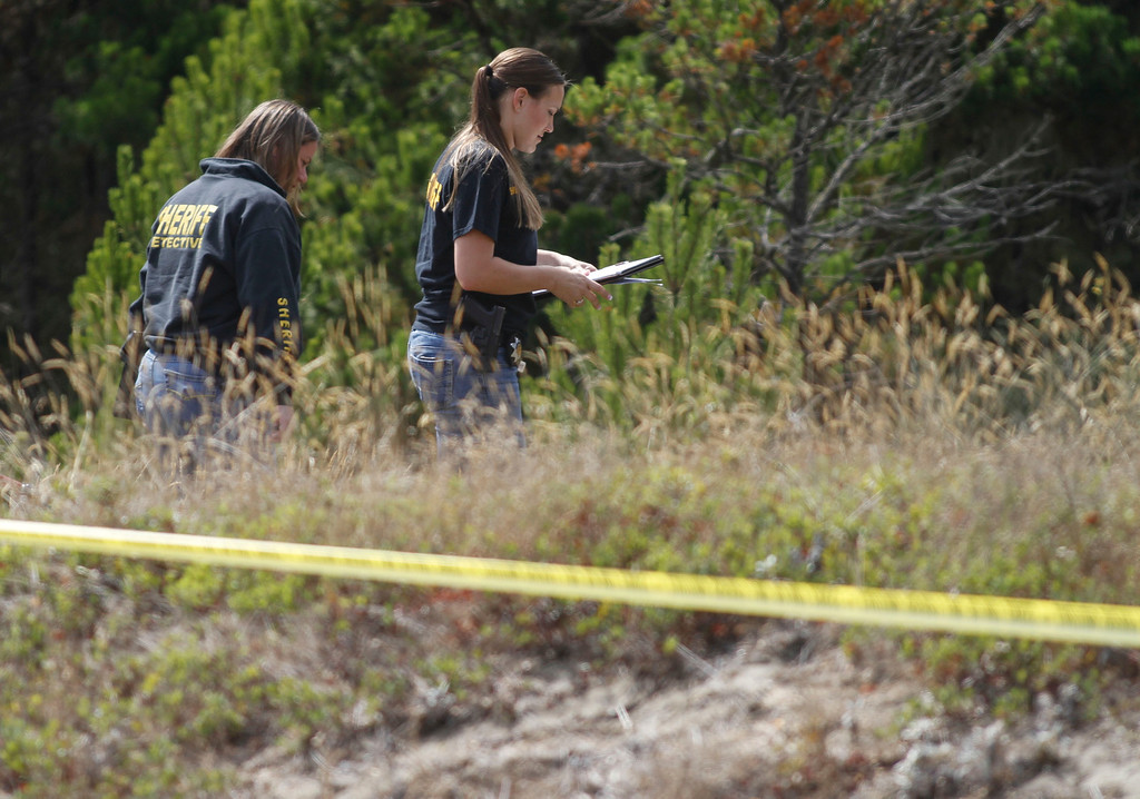 Description of . A crossbow attack left one person dead and another with injuries off New Navy Base Road in Samoa on Sunday, September 8, 2013. Two suspects, a black female age 25-30 and a white male age 25-30 fled the scene on bikes later retreating into the dunes. Law enforcement with a K9 unit searched the area following a trail towards the ocean; air support could not assist due to low fog.
