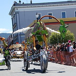 Jos� Quezada/For the Times-Standard  Glamorous Glady's is piloted by June Moxon, a 30-year veteran of the kinetic race, having