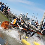 Jos� Quezada/For the Times-Standard  SaleFish flies into the bay joining other creative kinetic contraptions launching into Humboldt Bay from the Eureka Municipal boat ramp next to the Whar ...