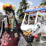 Shaun Walker/The Times-Standard  Natalie Arroyo of Eureka and Dia de los Tacos get ready for the start of the Kinetic Grand Championship in Arcata on Saturday.