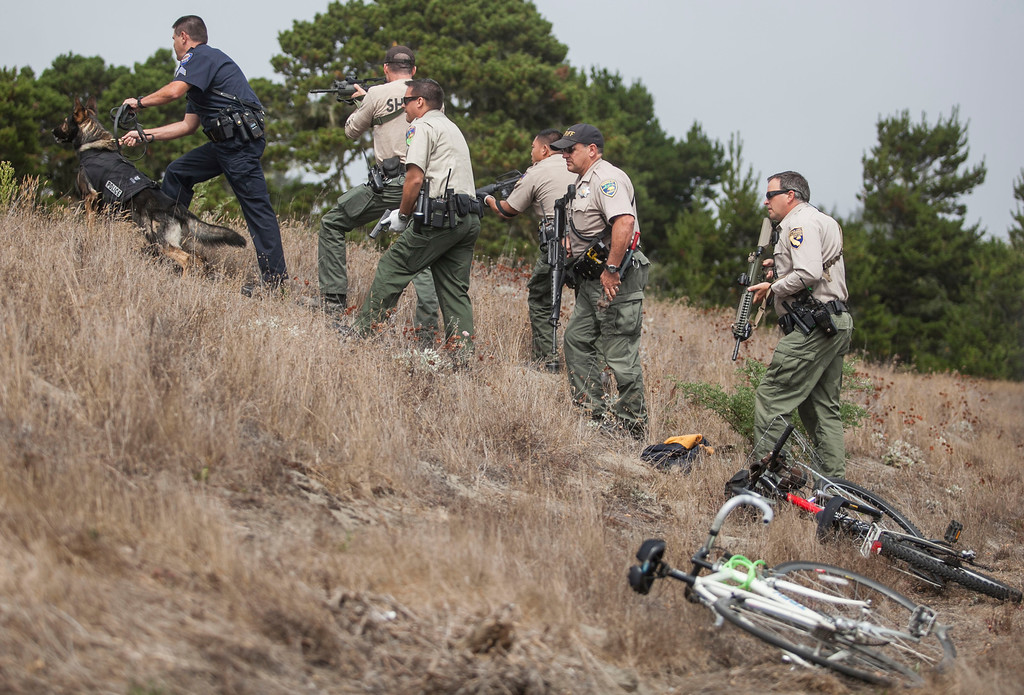 . A crossbow attack left one person dead and another with injuries off New Navy Base Road in Samoa on Sunday, September 8, 2013. Two suspects, a black female age 25-30 and a white male age 25-30 fled the scene on bikes later retreating into the dunes. Law enforcement with a K9 unit searched the area following a trail towards the ocean; air support could not assist due to low fog.